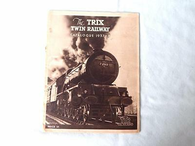 Original Trix Twin TTR Catalogue 1937-38 in Good Condition
