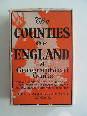 The Counties Of England Card Game Series No 3 Eastern Vintage John Jaques