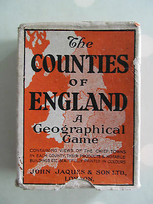 The Counties Of England Card Game Series No 2 Midland Vintage John Jaques