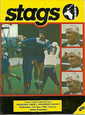 Mansfield Town V Stockport County  17/04/1985  Div 4  (4)