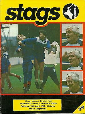 Mansfield Town V Halifax Town  13/04/1985  Div 4  (4)