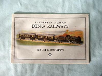 Original Bing 0 Gauge & 00 Table Rly Catalogue from 1920's with 4 Colour Pages