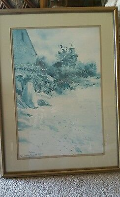 Donald Voorhees Lithograph Nature beach light framed Numbered signed 712 of 1200