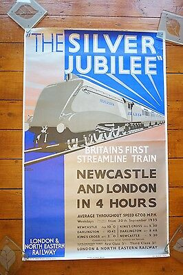 LNER The Silver Jubilee Vintage Reproduction Railway Poster Newcastle