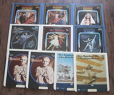 *10 Lot Video Disc Movies RCA Selectavision & Capacitance #3