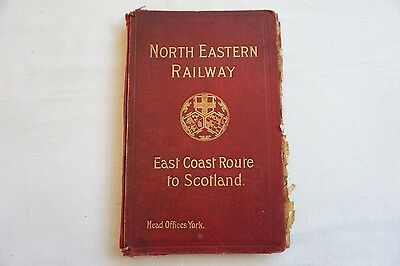 1914 North Eastern Railway Timetables with Maps East Coast Route to Scotland