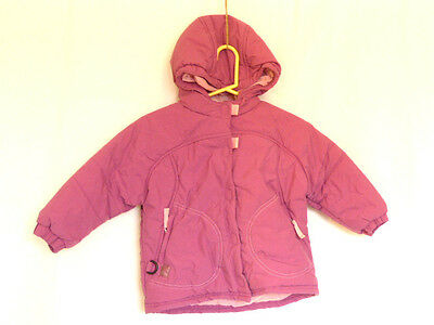Girls 2 years Pink Ski Winter Jacket - Hood. Zip Decathlon - Ex
