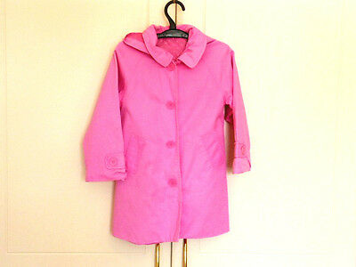 Girls 3-4 yrs Pink Very Smart TU Long Coat - Excellent cond.- removeable Hood