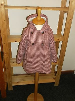 Pretty Dusty Pink Hooded Coat From Cocoon La Redoute ~3 years~