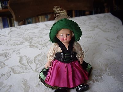Vintage Miniature Dolls House Doll in Costume