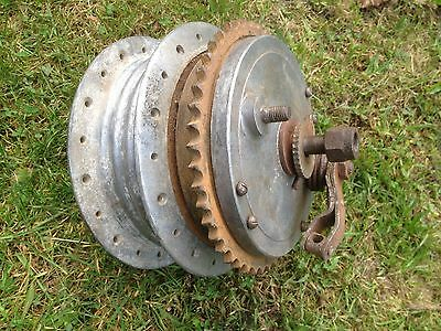 Royal Enfield Continental GT Rear Brake Drum Hub Complete 1960s