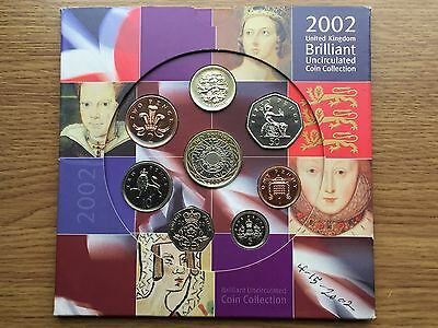 2002 Brilliant Uncirculated Year Coin Set - GB BU Original Royal Mint