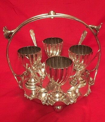 Antique Silver Plated Egg Cup Cruet By Joseph Rodgers c.1900