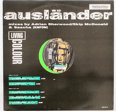 """Living Colour Auslander Mixes Limited Edition Numbered 5 Track Green Vinyl 12"""""""