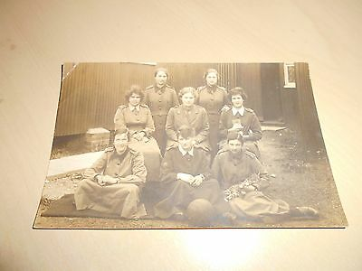 Early Ww1 Social History Real Photo Pc - Queen Mary's Army Aux Corps - Salisbury
