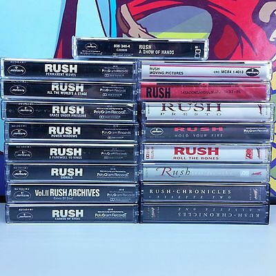 Rush Lot Of 17 Cassette Tapes chronicles hands grace signals power farewell 23z