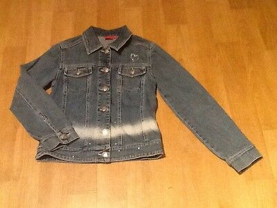 Girls Debenhams Designers Tigerlilly Blue Denim Jacket With Diamontes Age 9/10