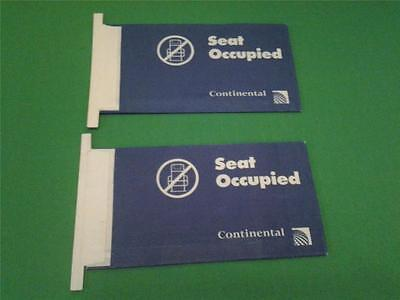 CONTINENTAL AIRLINES Set Occupied Card Airsickness Bag lot unused