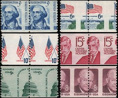 US various MNH lot of EFO: misperfed coil pairs