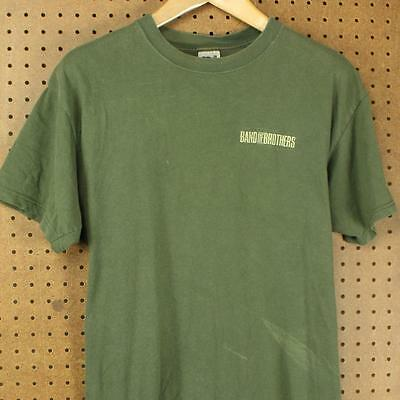 HBO BAND OF BROTHERS promo tee t-shirt, size LARGE, faded distressed WW2 vtg
