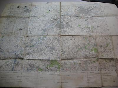 WW2 Map France Lille Roubaix Haubourdin British Expiditionary Force map used