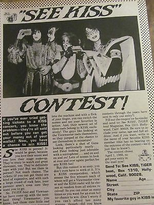 Kiss, Full Page Vintage Clipping
