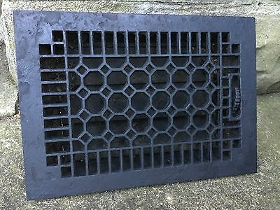 Cast Iron Window Grate Antique Architecture Garden Basement Louvered Floor Heat