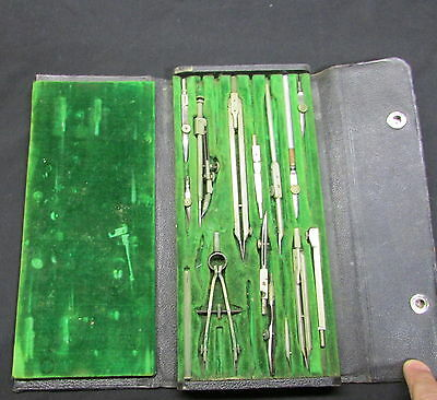 Antique German Made  Drafting Compass Boxed Set - Richter & Co - F2738