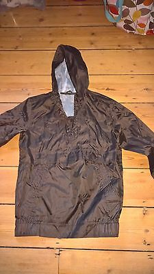 New Marks & Spencer Lightweight Chocolate Colour Hooded Raincoat Age 13/14