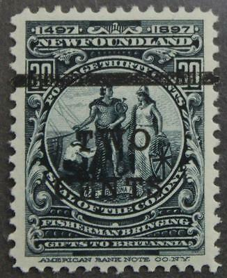 Newfoundland #127, MLH OG, Superbly Centered Colony Seal Surcharge, 1920 Issue