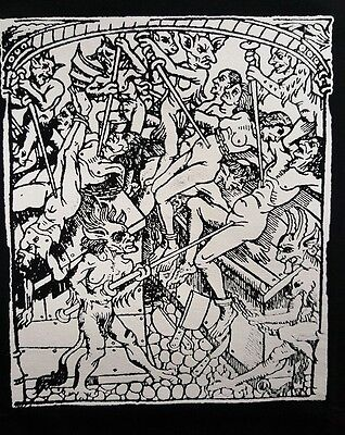 Danta's Inferno Hell Wood Burning Cult Film Movie Black Canvas Back Patch