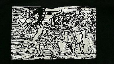 The Devil Satan Whitches Wood Burning Cult Film Movie Black Canvas Back Patch