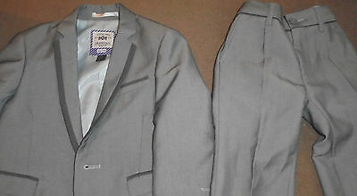 kid suit child wedding trousers jacket Next grey 34/29 age 1-2 VERY FAST POST
