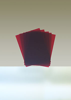 "Rubylith, Lot of 5 Sheets, 8 1/2"" x 11"", Red"
