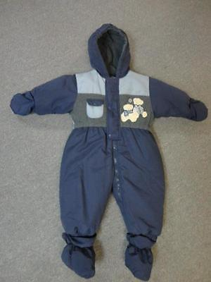 Casual Time Toddler Snow Suit Blue Bear Size 18M - Cute!!