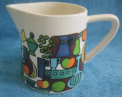 retro 1960s W.GOEBEL Germany BOUNTIFUL porcelain 11cm JUG