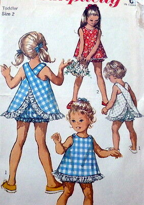 LOVELY VTG 1960s GIRLS TOP & BLOOMERS Sewing Pattern 2