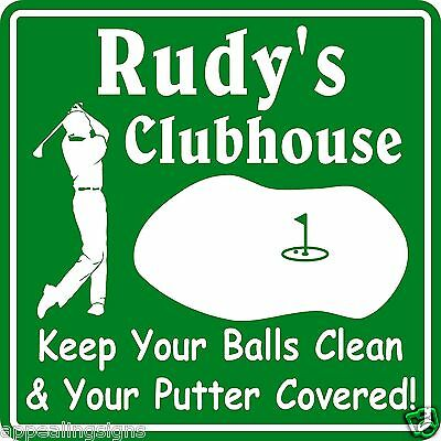 Unique Christmas Gift Personalized Custom Name Golfer Clubhouse Bar Golf Sign #8