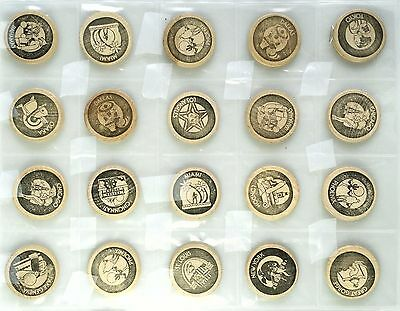 Playboy Club Wooden Nickel Coin Token Lot of 20 Exonumia