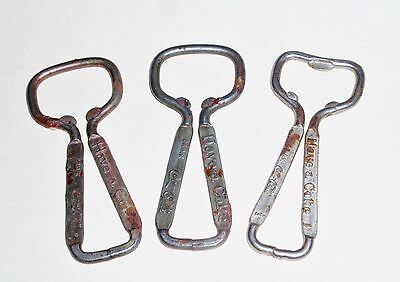 Vintage Have A Coke Bottle Openers - Lot Of Three - Coca Cola
