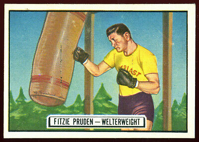 1951 Topps Ringside Boxing #65 Fitzie Pruden, Ex/Ex+