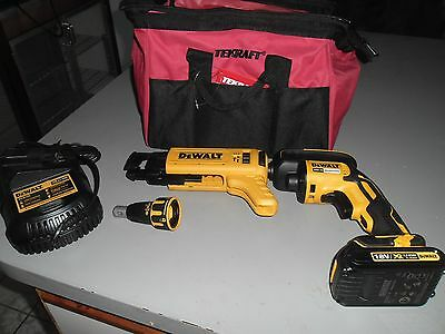 Dewalt 18V Brushless Collated Drywall Screwdriver 435W  4400Rpm Dcf6201 & 620Xe,