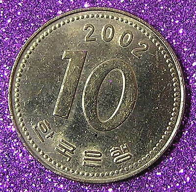 1-Coin from South Korea.  10-Won.  2002.