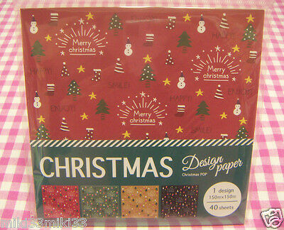 Christmas Pop Design Paper / X'mas Origami / Made in Japan Stationery