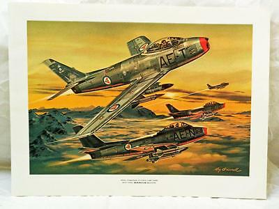 Roy Grinnell Aviation Art Print Norwegian Air Force F-86 Sabre Bullpup Missile
