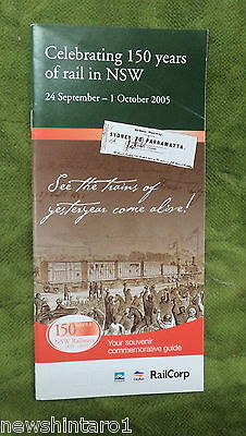 #d260. 2005  Railway Booklet - 150 Years Of Rail In Nsw