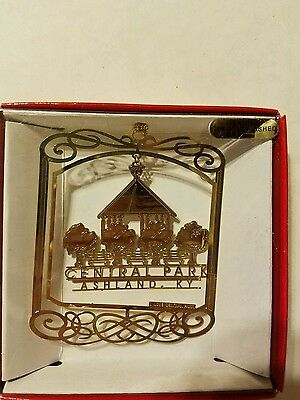 Central Park Ashland  Kentucky Brass Christmas Ornament