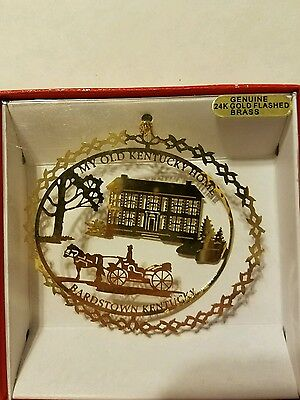 My Old Kentucky Home Bardstown  Kentucky Brass Christmas Ornament