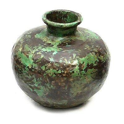 Silkroute PST3708G  Iron Painted Pot - Green