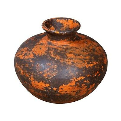 Silkroute PST3708O  Iron Painted Pot - Orange